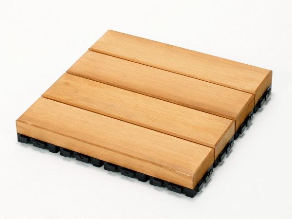 匠手作りのベランダガーデン向けウッドデッキ 送料無料 ウッドデッキ匠 樹脂ジョイント付 新品未使用正規品 30cm×30cm×厚み4cm 色:パイン 12枚以上1枚単位で必要数購入可能です ベランダガーデン 天然木製 交換無料 おしゃれ ベランダ ウッドパネル 日本製