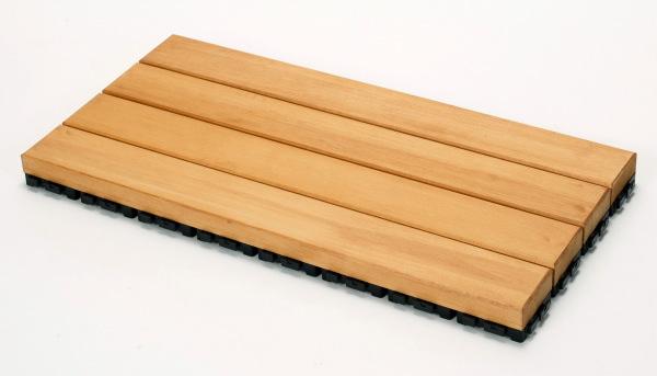 匠手作りのベランダガーデン向けウッドデッキ 送料無料 特売 無垢材使用 素足でお使いいただけます ウッドデッキ匠 樹脂ジョイント付 30cm×60cm×厚み4cm:24枚セット ウッドパネル おしゃれ 天然木製 ベランダ セールSALE%OFF 色:パイン 日本製 ベランダガーデン
