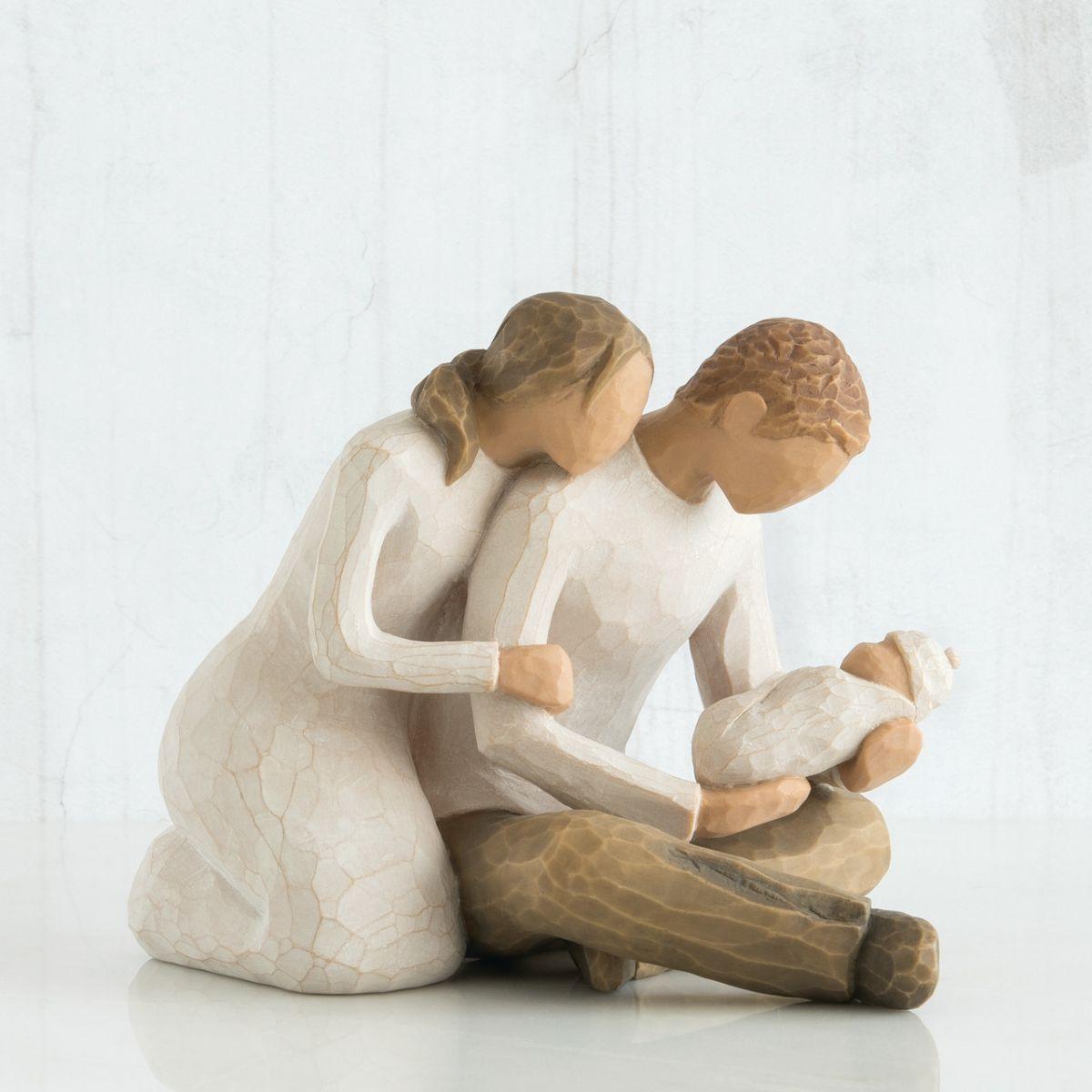 クリスマス プレゼント ウィローツリー彫像 新しい生命 | 男の子 女の子 両親 ペア カップル おしゃれな置物 大人向け フィギュア 人形 インテリア雑貨 Willow Tree New Life 正規輸入品