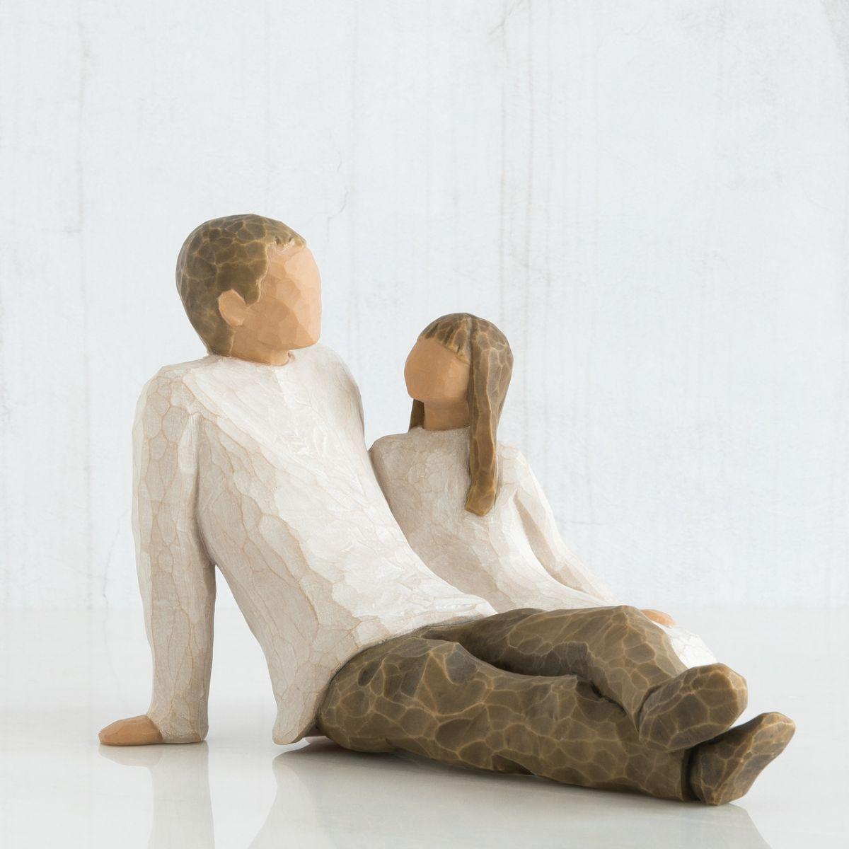 クリスマス プレゼント ウィローツリー彫像 父と娘 | 親子 ペア おしゃれな置物 大人向け フィギュア 人形 インテリア雑貨 Willow Tree Father & Daughter 正規輸入品