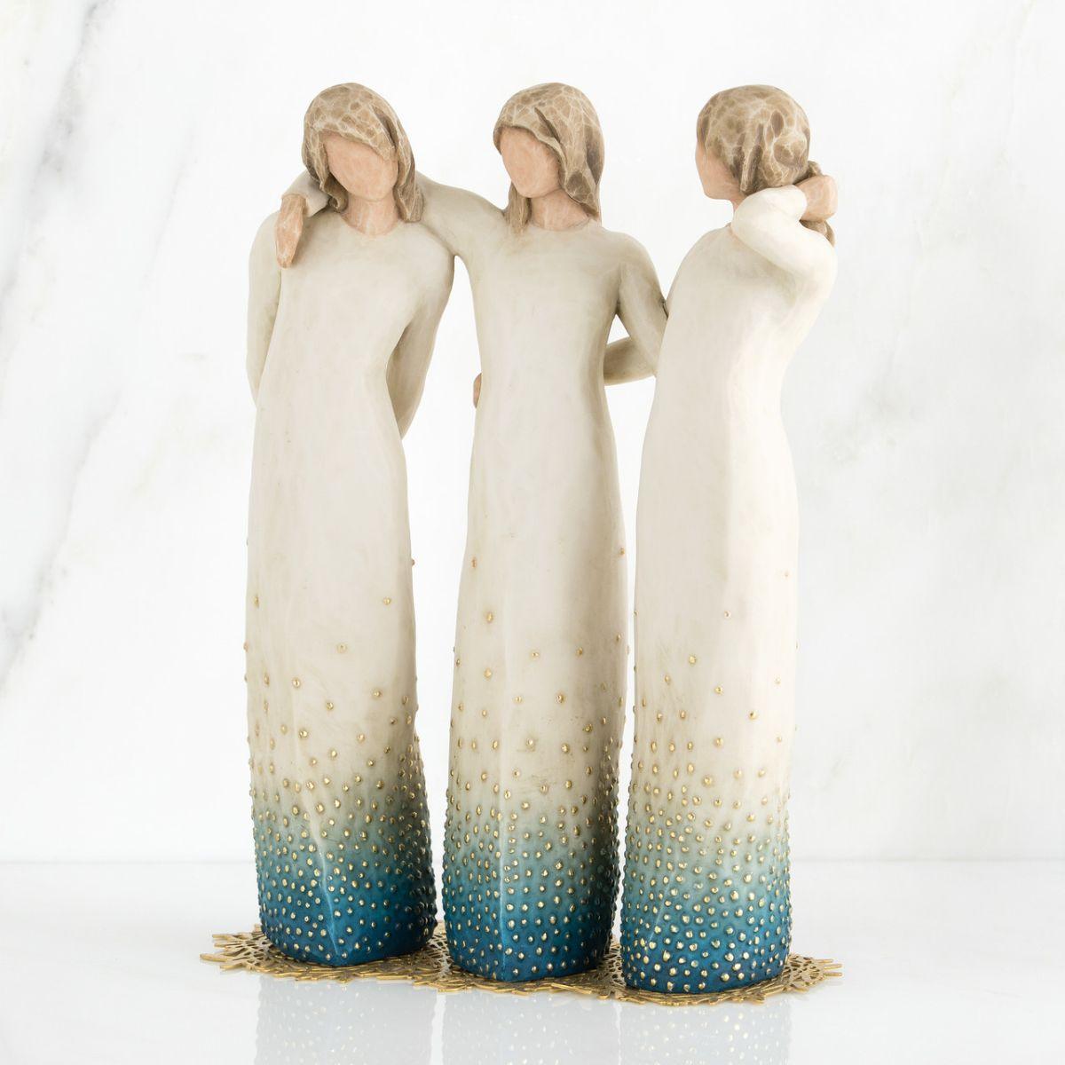スーパーSALE クリスマス プレゼント ウィローツリー彫像 私のとなりで | 女友達 おしゃれな置物 大人向け フィギュア 人形 インテリア雑貨 Willow Tree By my side 正規輸入品