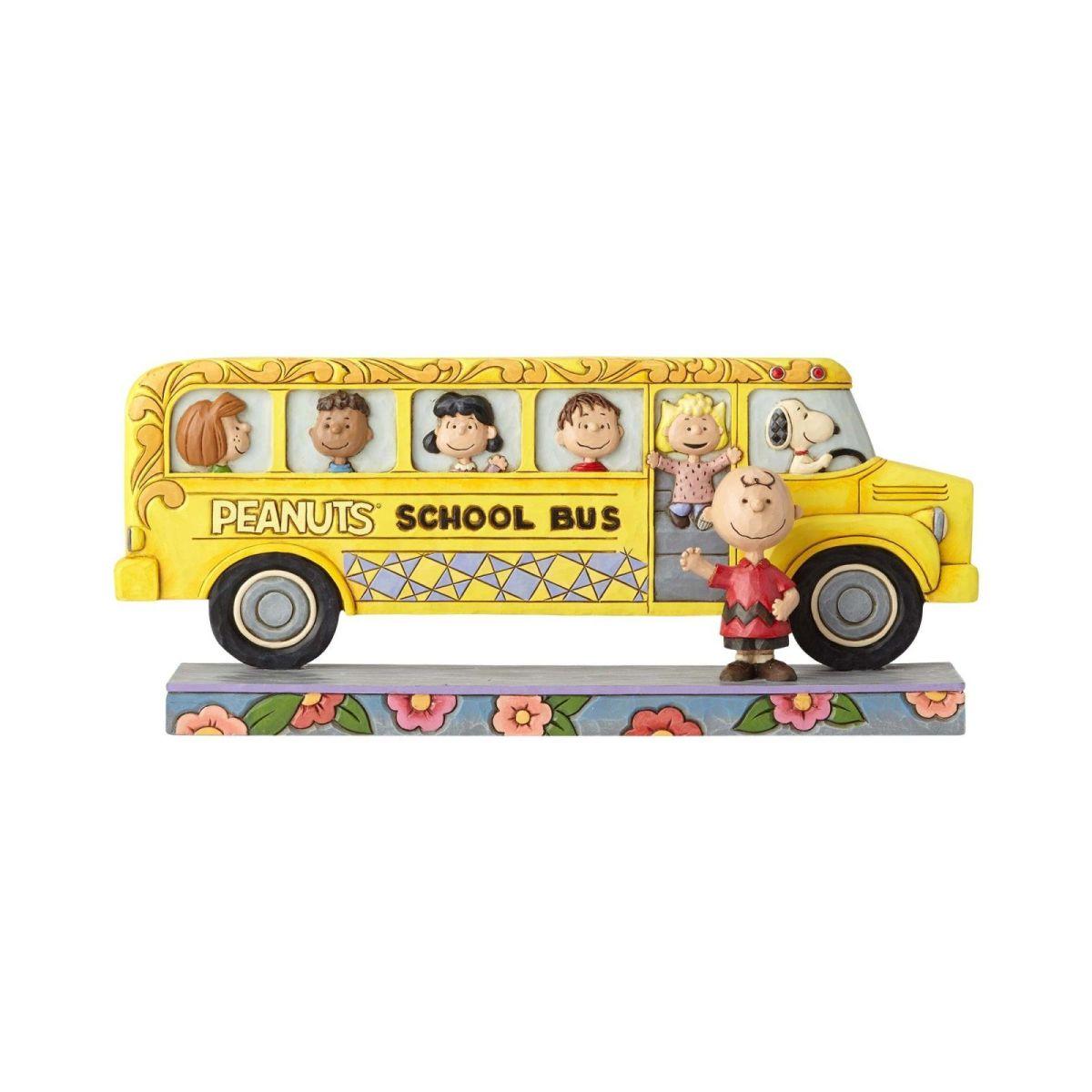 クリスマス プレゼント ピーナッツ スクールバス 12cm | スヌーピー フィギュア 大人向け 人形 置物 ジムショア グッズ Peanuts School Bus ジム・ショア ピーナッツ JIM SHOREJIM SHORE PEANUTS 正規輸入品