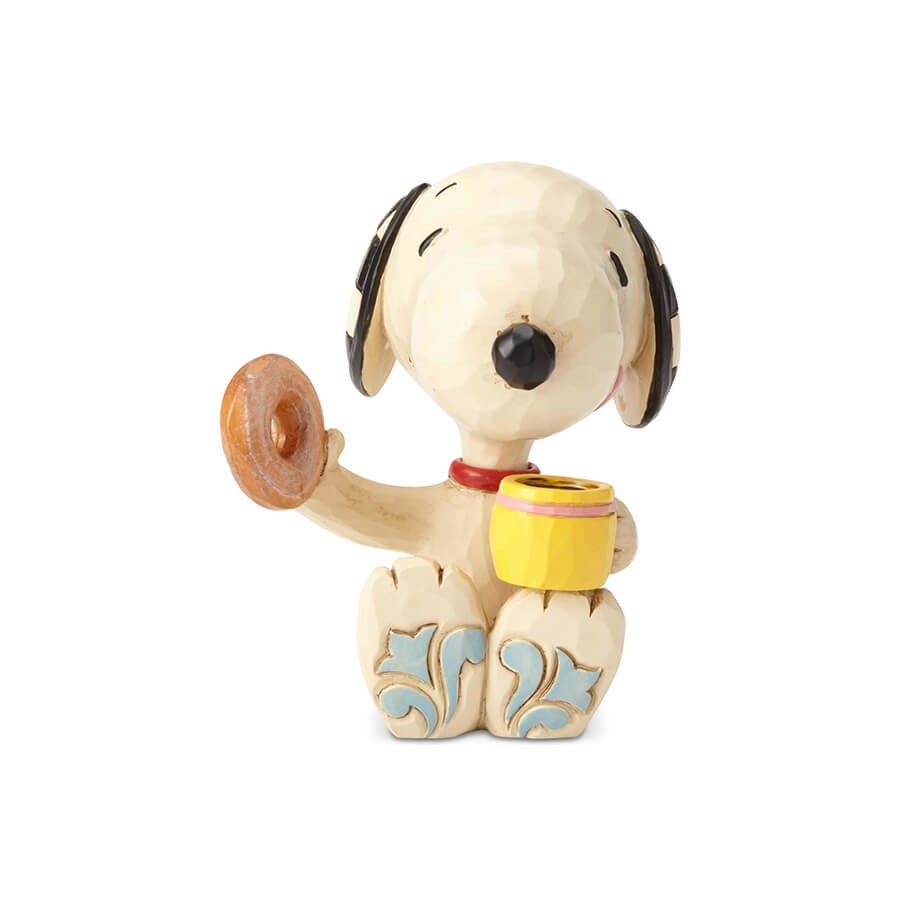 明日は素晴らしい日になるはずだから、今いっぱい休むのさ - プレゼント、ギフトに。コレクションも。 誕生日 クリスマス プレゼント スヌーピー ドーナツとコーヒー ミニ 7.6cm | スヌーピー フィギュア 大人向け 人形 置物 ジムショア グッズ Snoopy Donut  Coffee mini ジム・ショア ピーナッツ JIM SHOREJIM SHORE PEANUTS 正規輸入品