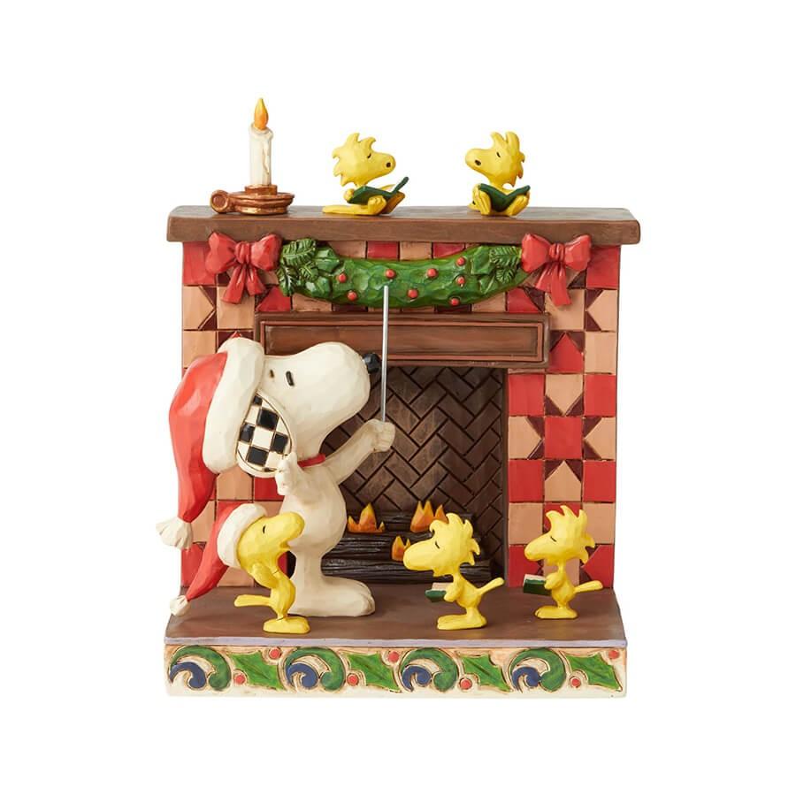 メリークリスマス! - プレゼント、ギフトに。コレクションも。 誕生日 クリスマス プレゼント スヌーピー 暖炉 クリスマス 14.6cm | スヌーピー フィギュア 大人向け 人形 置物 ジムショア グッズ Snoopy at Fireplace ジム・ショア ピーナッツ JIM SHOREJIM SHORE PEANUTS 正規輸入品