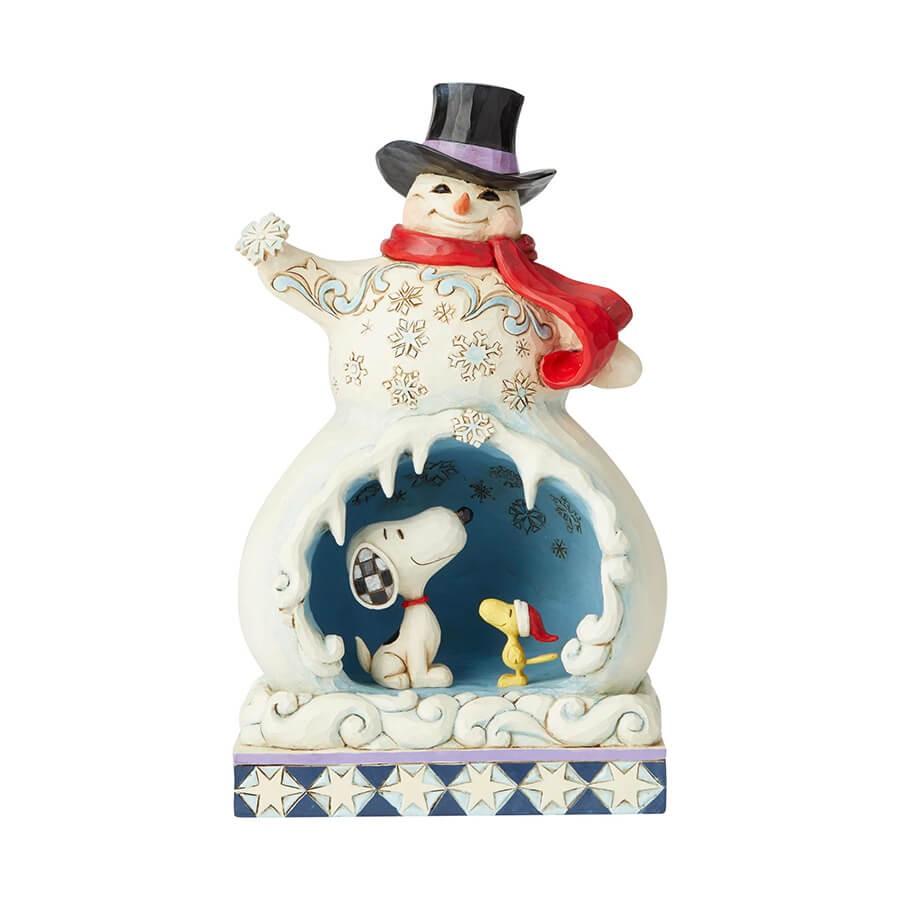 スヌーピー 雪だるま かまくら 24.1cm | スヌーピー フィギュア 大人向け 人形 置物 ジムショア グッズ Snowman with Snoopy ジム・ショア ピーナッツ JIM SHOREJIM SHORE PEANUTS 正規輸入品