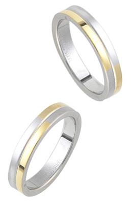 ギフトボックス付 送料無料 刻印無料 ゴールド シルバー ツートーンステンレスリング ペアリング 本店 ご注文で当日配送 オリジナル ギフト 名入れ 指輪