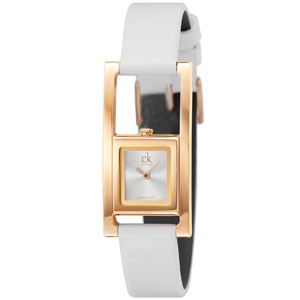 【送料無料】Calvin Klein(カルバンクライン)ck K4H436.L6 ピンクゴールド ホワイト レディース 専用BOX付き / 腕時計 クリスマス プレゼント