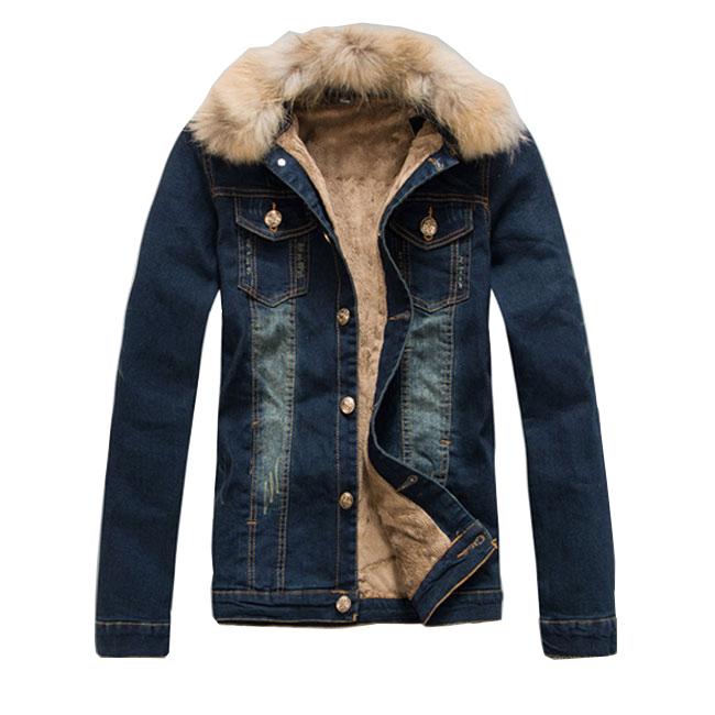 メンズ デニムジャケット 裏ボア ジージャン バイクジャケット 裏起毛 細身 厚手 ブルゾン ウォッシュ ユーズド 冬