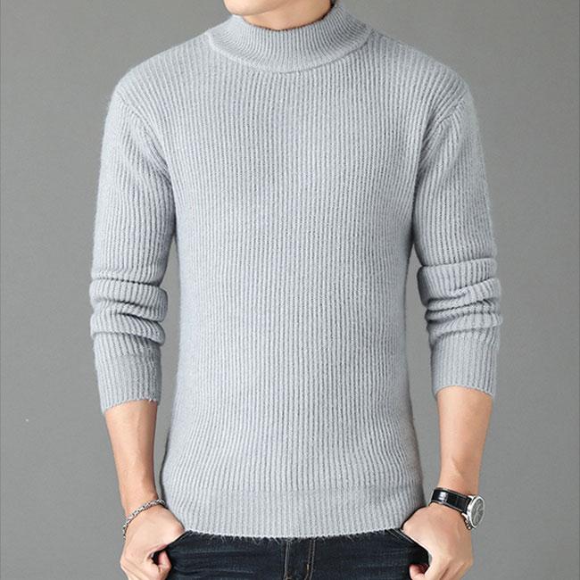 メンズ タートルネックセーター ニット ケーブルニット ハイネック セーター 無地 長袖 トップス スリム ファッション