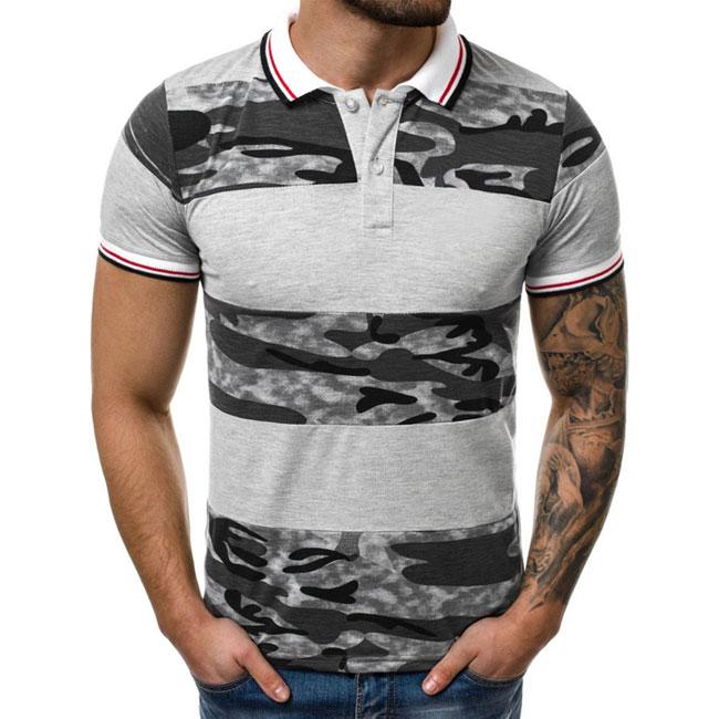 ポロ半袖シャツ メンズ ゴルフシャツ 迷彩柄 ポロシャツ 新発売 poro カジュアル ゴルフウェア 日本メーカー新品 半袖ポロ