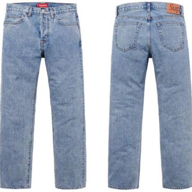 シュプリーム ストーンウォッシュスリムジーンズ 34インチ Supreme Stone Washed Slim Jean
