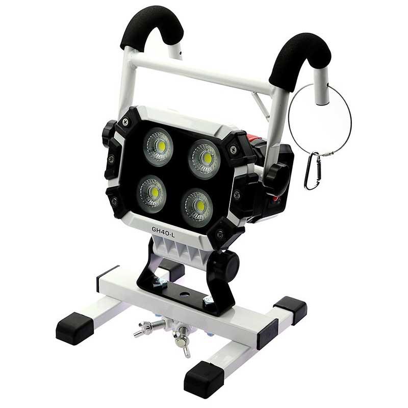 LED充電式投光器 40W 引掛けアーム付