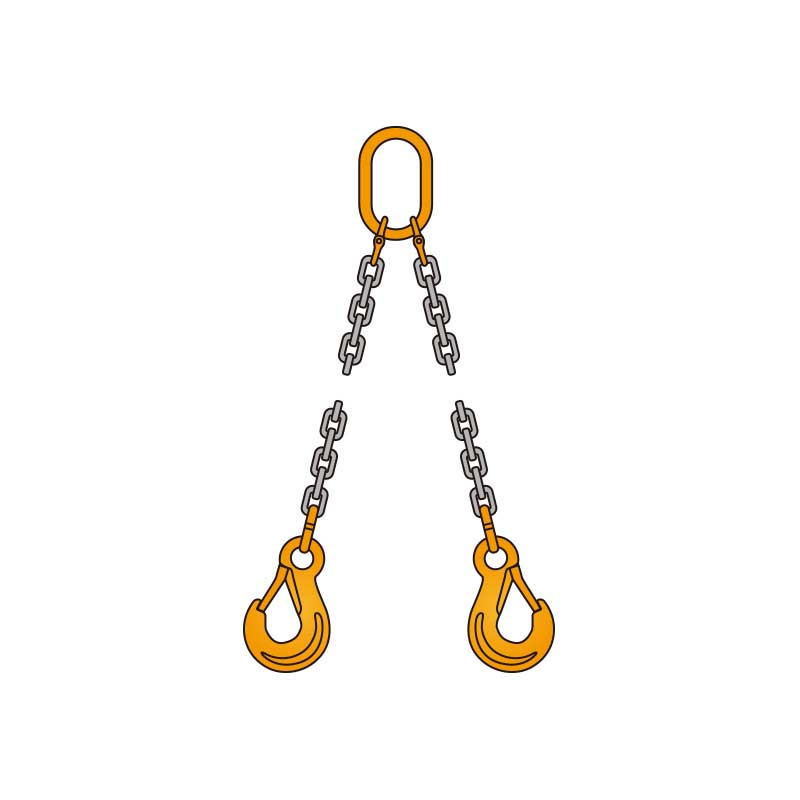 ペワッグ 2本吊りチェーンスリングセット 1.8t×1.0m