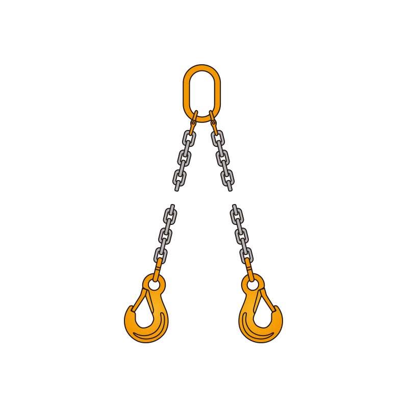 ペワッグ 2本吊りチェーンスリングセット 1.8t×2.0m