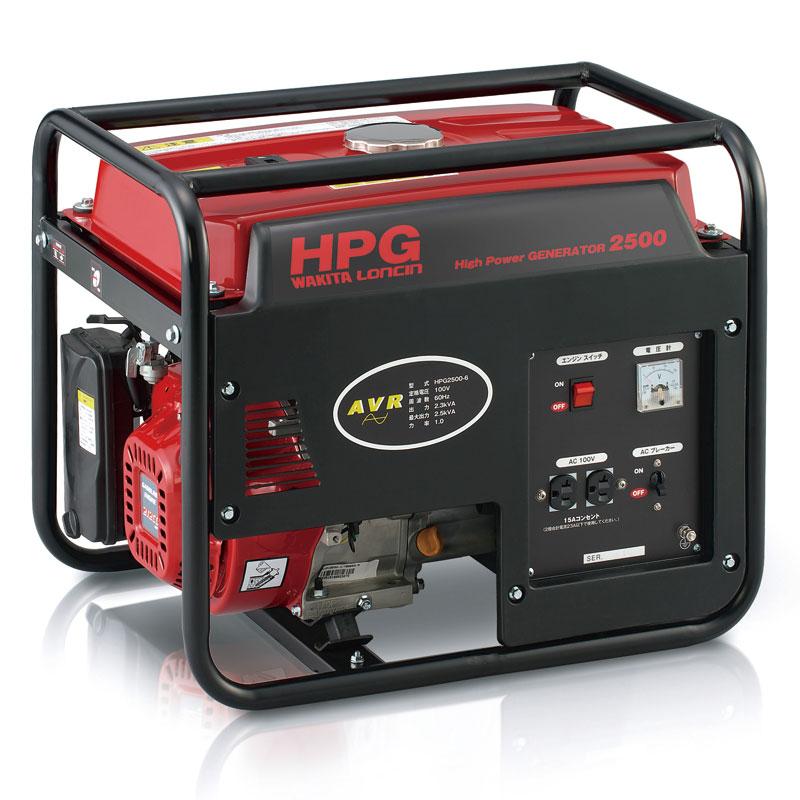 ワキタ 発電機 HPG2500 50Hz