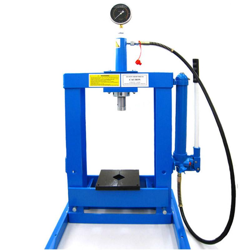 卓上式メーター付き油圧プレス10ton(水色) THM017