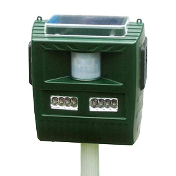 動物撃退器 太陽光充電式 角タイプ