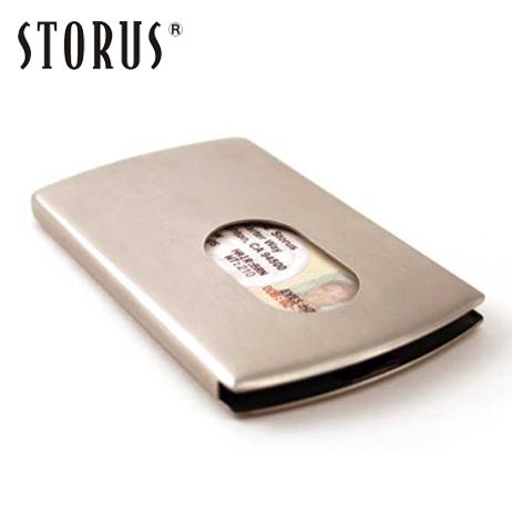 ネコポス送料無料 お洒落で実用的なカードケース 名刺入れ あす楽対応 ストアー 名入れ不可 STORUS ストラス スマートカードケース マネークリップ メンズ 豊富な品 シルバー ステンレス製カード入れ
