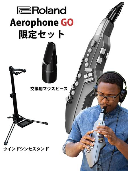 管楽器の楽しさを、もっと手軽に、もっと自由に。デジタル管楽器 Aerophone GO。 【数量限定スタンド交換用マウスピース付き!】Roland ローランド Aerophone GO エアロフォン ゴー AE-05 【送料無料】【P10】
