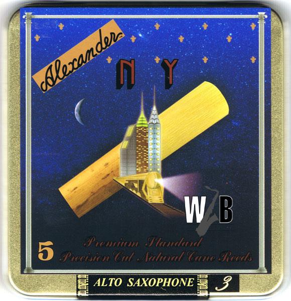 即納 卓抜 マイケル ブレッカーの魂が入魂されたリード 試さない理由が無い 処分特価 アルトサックス用リード ニューヨーク 5枚入 NY アレキサンダー