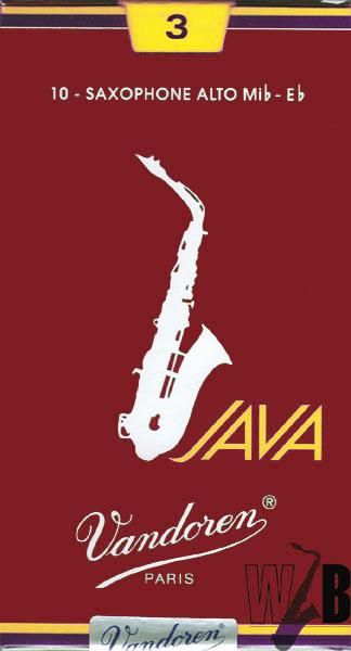 ジャズファン待望ファイルドカットのジャバ 赤ジャバ 日本 登場 アルトサックス用リード バンドレン JAVA ファイルド ジャバ 正規店 レッドカット