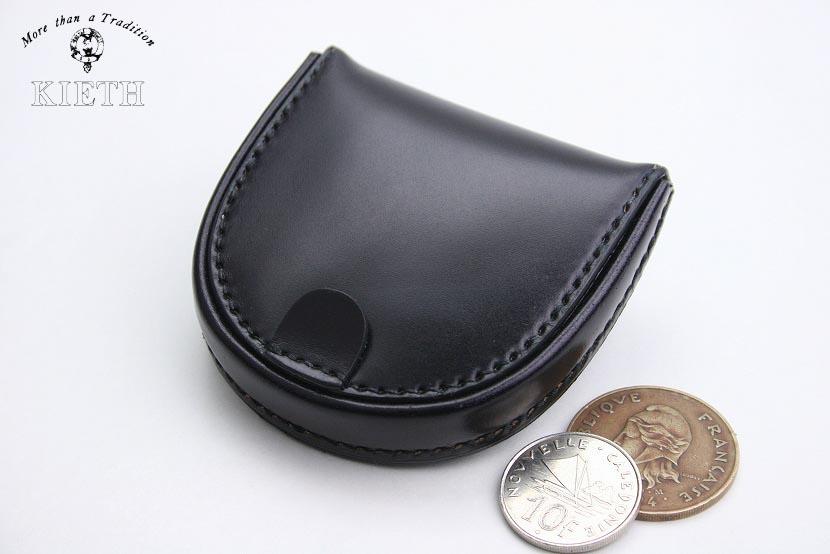 (キース) KIETH コードバンの馬蹄型コインケース ブラック 日本製 馬革 本革 メンズ 財布 小銭入れ( 送料無料 )