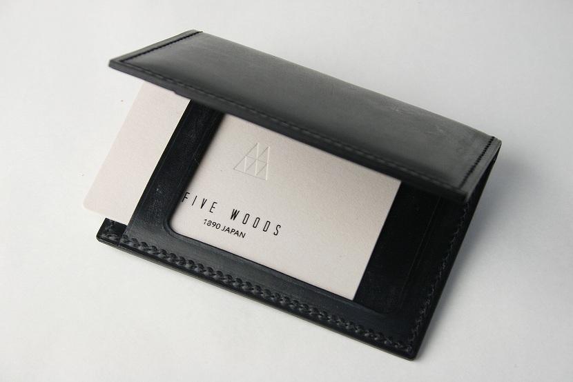 (ファイブウッズ) FIVE WOODS BASICS BRIDLE ベーシックブライドル パスケース 「PASS」 ブラック 日本製 ブライドルレザー 本革 メンズ 定期入れ 43011( 送料無料 )