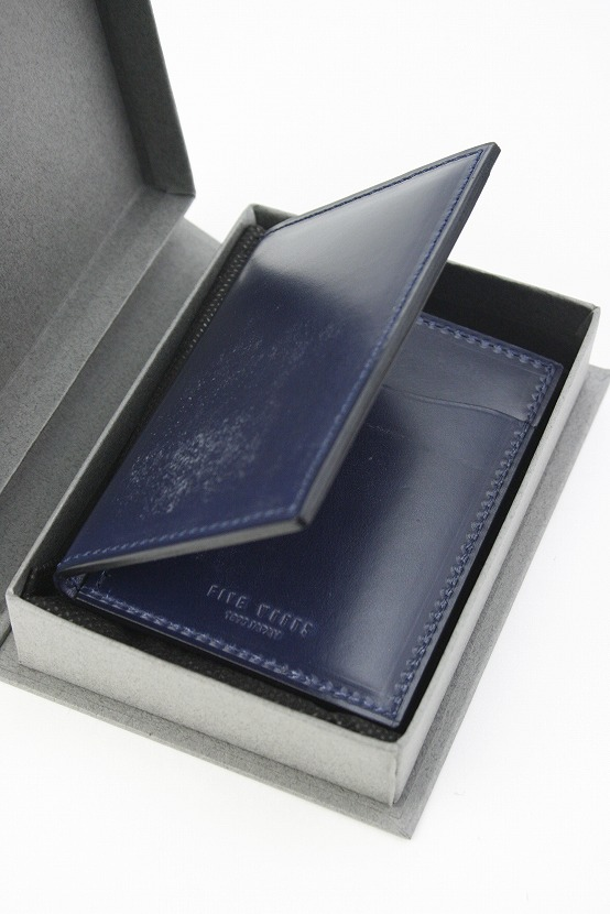 73c85ae6c6cb ... ファイブウッズ)FIVEWOODSBASICSBRIDLEベーシックブライドルパスケース「PASS」ネイビー日本製ブライドル ...