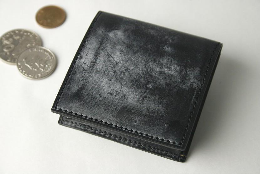 (ファイブウッズ) FIVE WOODS BASICS BRIDLE ベーシックブライドル コインケース 「BOX」 ブラック 日本製 ブライドルレザー 本革 メンズ 小銭入れ 43013( 送料無料 )