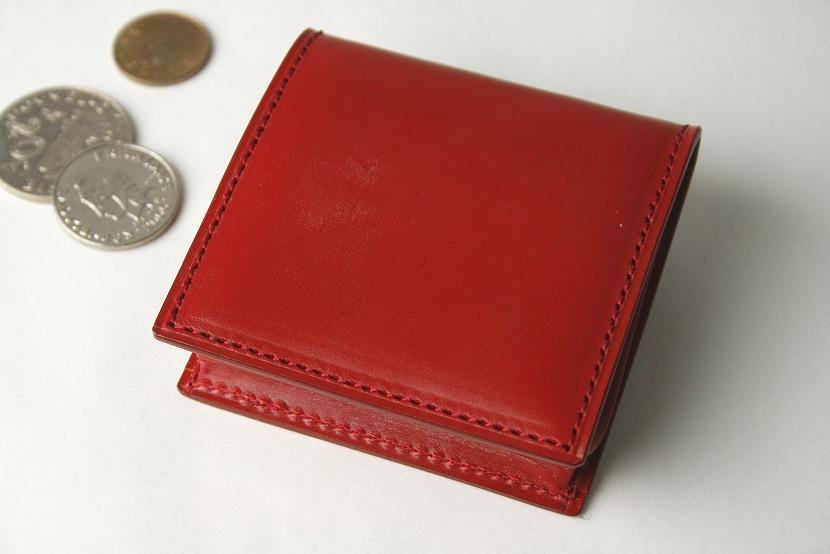 (ファイブウッズ) FIVE WOODS BASICS BRIDLE ベーシックブライドル コインケース 「BOX」 レッド 日本製 ブライドルレザー 本革 メンズ 小銭入れ 43013( 送料無料 )