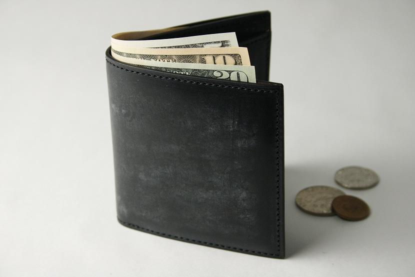 (ファイブウッズ) FIVE WOODS BASICS BRIDLE ベーシックブライドル ミニウォレット 「MINI WALLET」 ブラック 日本製 ブライドルレザー 本革 メンズ 二つ折ミニ財布 43014( 送料無料 )