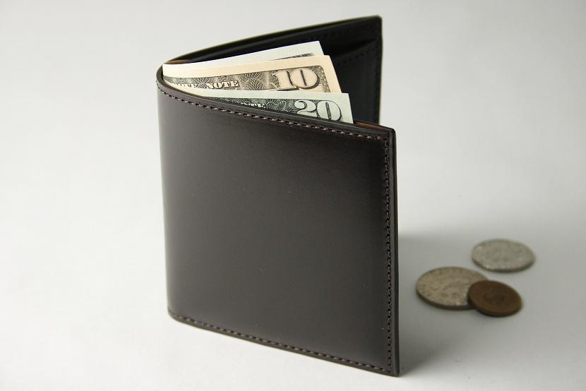 (ファイブウッズ) FIVE WOODS BASICS BRIDLE ベーシックブライドル ミニウォレット 「MINI WALLET」 ダークブラウン 日本製 ブライドルレザー 本革 メンズ 二つ折ミニ財布 43014( 送料無料 )