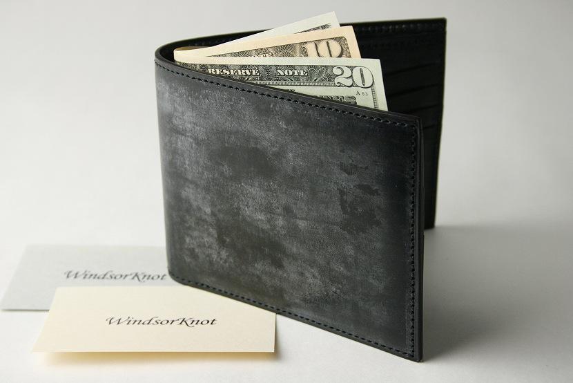 (ファイブウッズ) FIVE WOODS BASICS BRIDLE ベーシックブライドル 二つ折ウォレット 札入れ 「BILLFOLD」 ブラック 日本製 ブライドルレザー 本革 メンズ 二つ折財布 43015( 送料無料 )