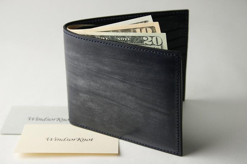 (ファイブウッズ) FIVE WOODS BASICS BRIDLE ベーシックブライドル 二つ折ウォレット 札入れ 「BILLFOLD」 ネイビー 日本製 ブライドルレザー 本革 メンズ 二つ折財布 43015( 送料無料 )