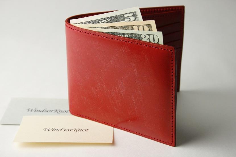 (ファイブウッズ) FIVE WOODS BASICS BRIDLE ベーシックブライドル 二つ折ウォレット 札入れ 「BILLFOLD」 レッド 日本製 ブライドルレザー 本革 メンズ 二つ折財布 43015( 送料無料 )