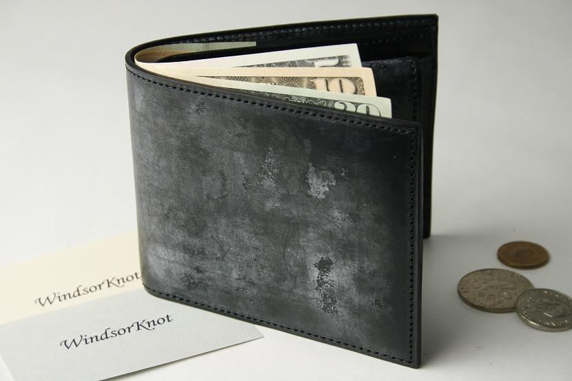 (ファイブウッズ) FIVE WOODS BASICS BRIDLE ベーシックブライドル ショートウォレット(小銭入れ有) 「SHORT WALLET」 ブラック 日本製 ブライドルレザー 本革 メンズ 二つ折財布 43017( 送料無料 )