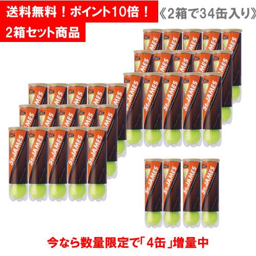 【増量】ダンロップ [DUNLOP] テニスボール St.JAMES(セントジェームス) 2箱セット