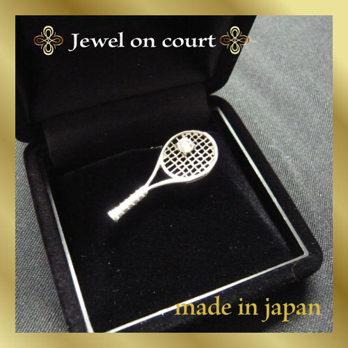 ジュエルオンコート ピンズ(プラチナ加工)[Jewel on court アクセサリー]