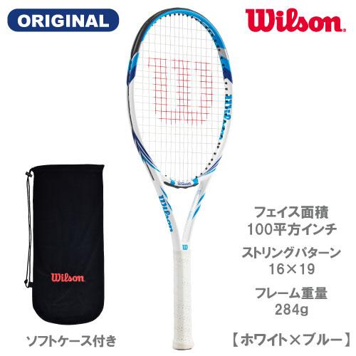 【誠実】 ウイルソン [wilson] 硬式ラケット SIX THREE(ホワイト×ブルー)(2018年ウインザーオリジナル), メガLED a708ce6f