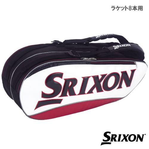 スリクソン [SRIXON] ラケットバッグ (ラケット8本収納可) SPC-2782 ホワイト×レッド
