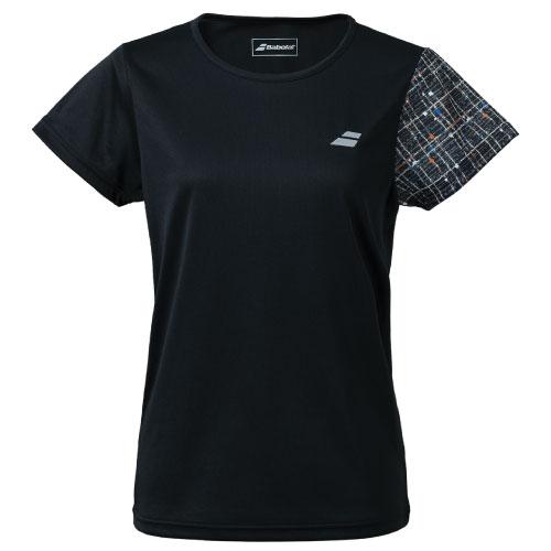 2021年秋冬モデル バボラ PUREショートスリーブシャツ BWP1578-BK00 日時指定 LS レディースウエア 定価 Babolat