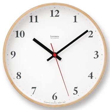 定番となったプライウッドシリーズLC05-02の電波時計バージョン ナチュラル Lemnos NEW売り切れる前に☆ レムノス Plywood LC10-21W 電波時計 日本製 clock