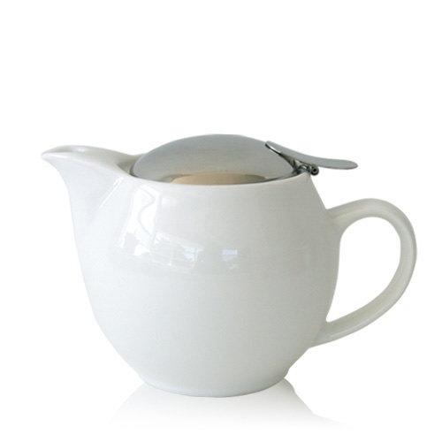 手に馴染む柔らかいフォルム! 世界中で愛される使いやすいティーポット! ZERO JAPAN (ゼロジャパン) ユニバーサルティーポット3人用 BBN-02 WH ホワイト急須/きゅうす/日本茶/番茶/新茶/紅茶/ポット/ハーブティ/オシャレ♪♪