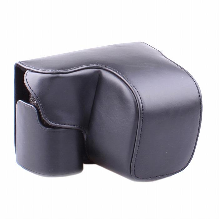 索尼 a6000 阿爾法 6000 例案例相機袋封底皮革案例單反相機單反數碼相機合成革索尼數碼相機皮革棕色黑色黑棕色三腳架為供帶三腳架螺孔