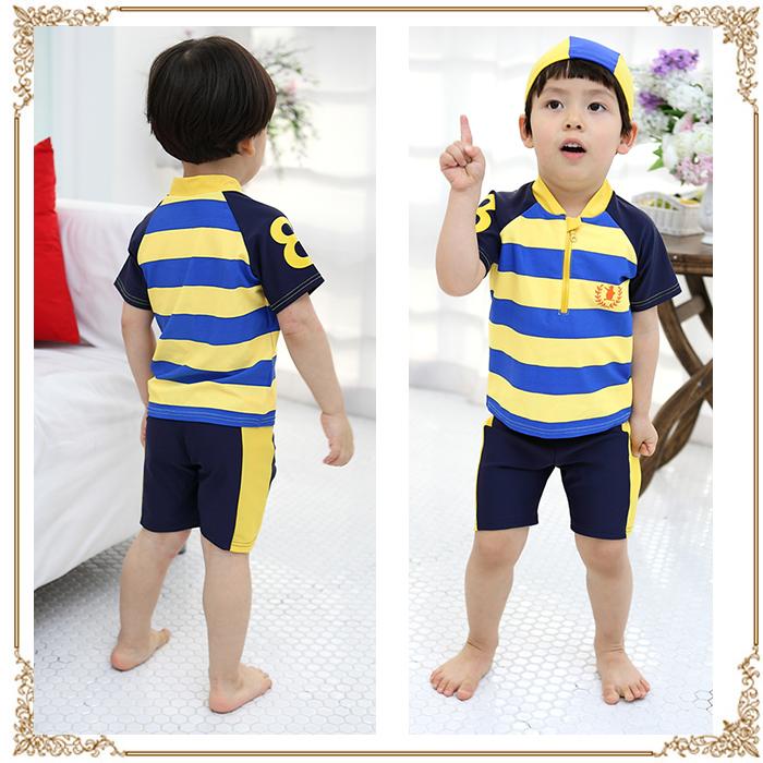 8de0c7411 windygirl: Boy (child) swimming cap swimsuit set bathing suit [arrival at child  water, child swimsuit, child swimsuit, kids swimsuit, kids swimsuit, ミズギ,  ...