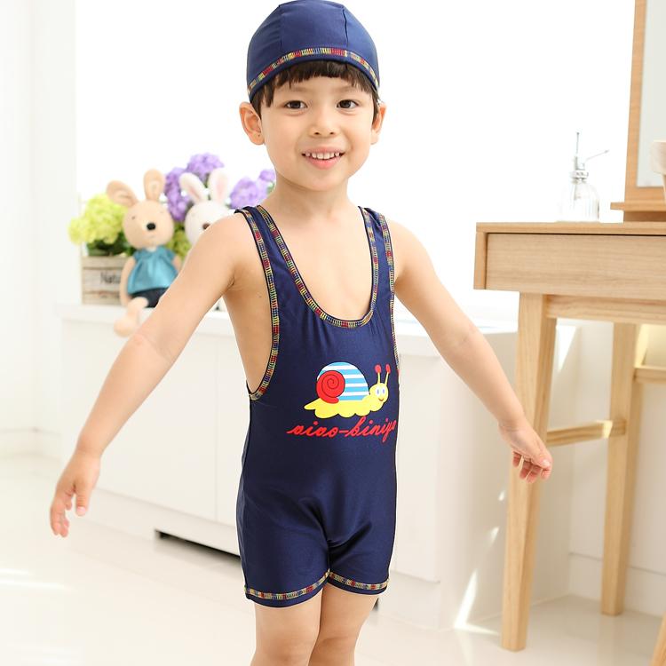228d6d208 Boy (child) swimming cap swimsuit set bathing suit [arrival at child water,  ...