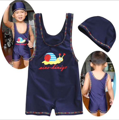 54679f4c2 ... Boy (child) swimming cap swimsuit set bathing suit [arrival at child  water,