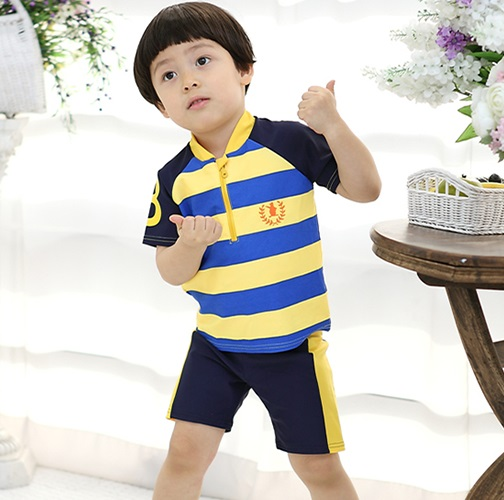 Boy (child) swimming cap swimsuit set bathing suit  arrival at child water 9177a3c68e02