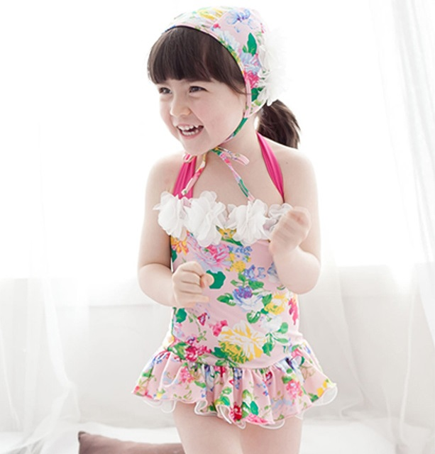 f5fe1d07c0b3a Two points of swimsuit set floral design [child, girl, BABY baby, baby ...