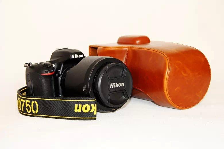 尼康 D750 案例相機案例相機背面的攝像頭覆蓋合成革用例為數碼相機單反相機單反數碼相機